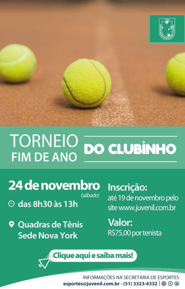Abertas inscrições para o Torneio de Fim de Ano Maurício Lopes