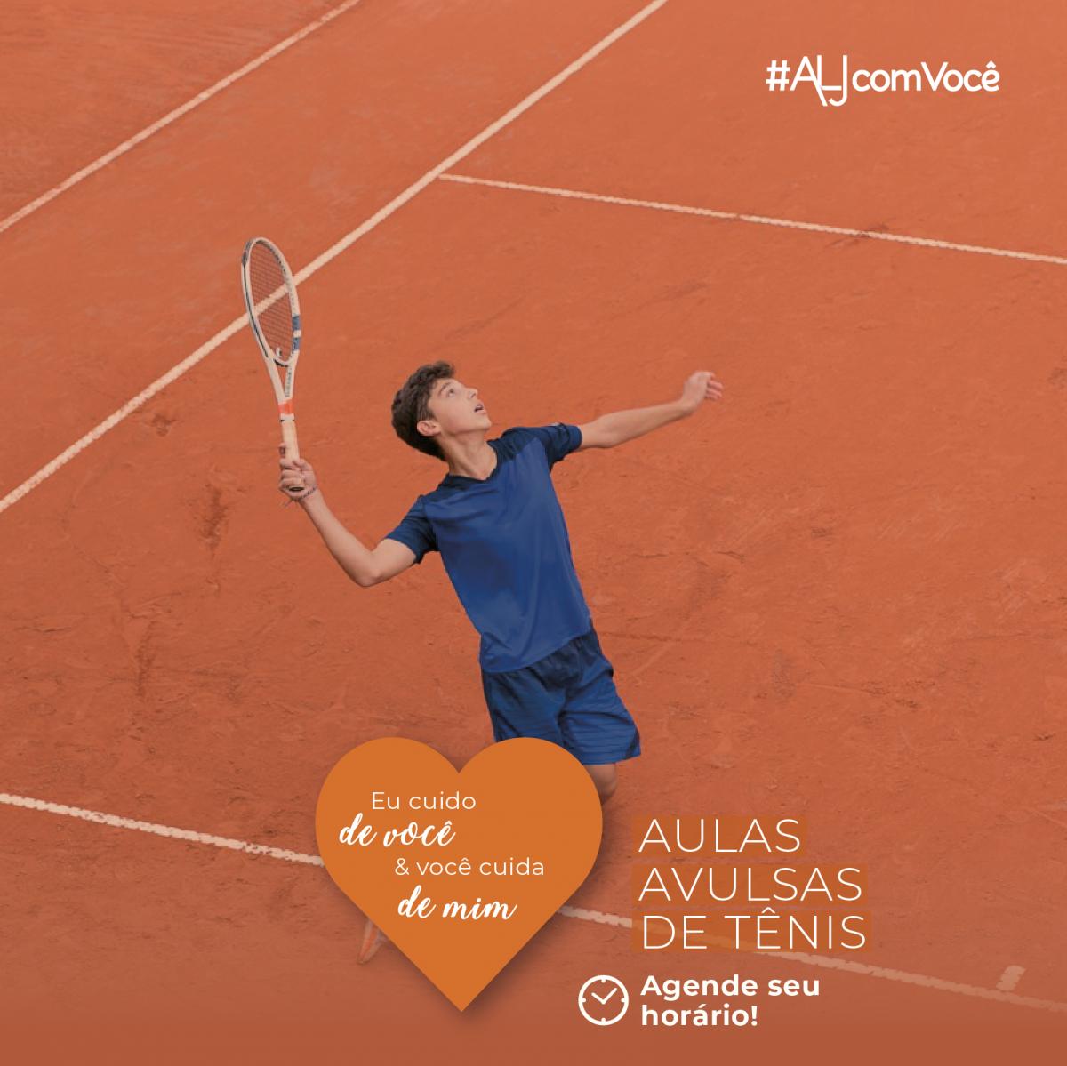 Agende sua aula avulsa de tênis no sistema