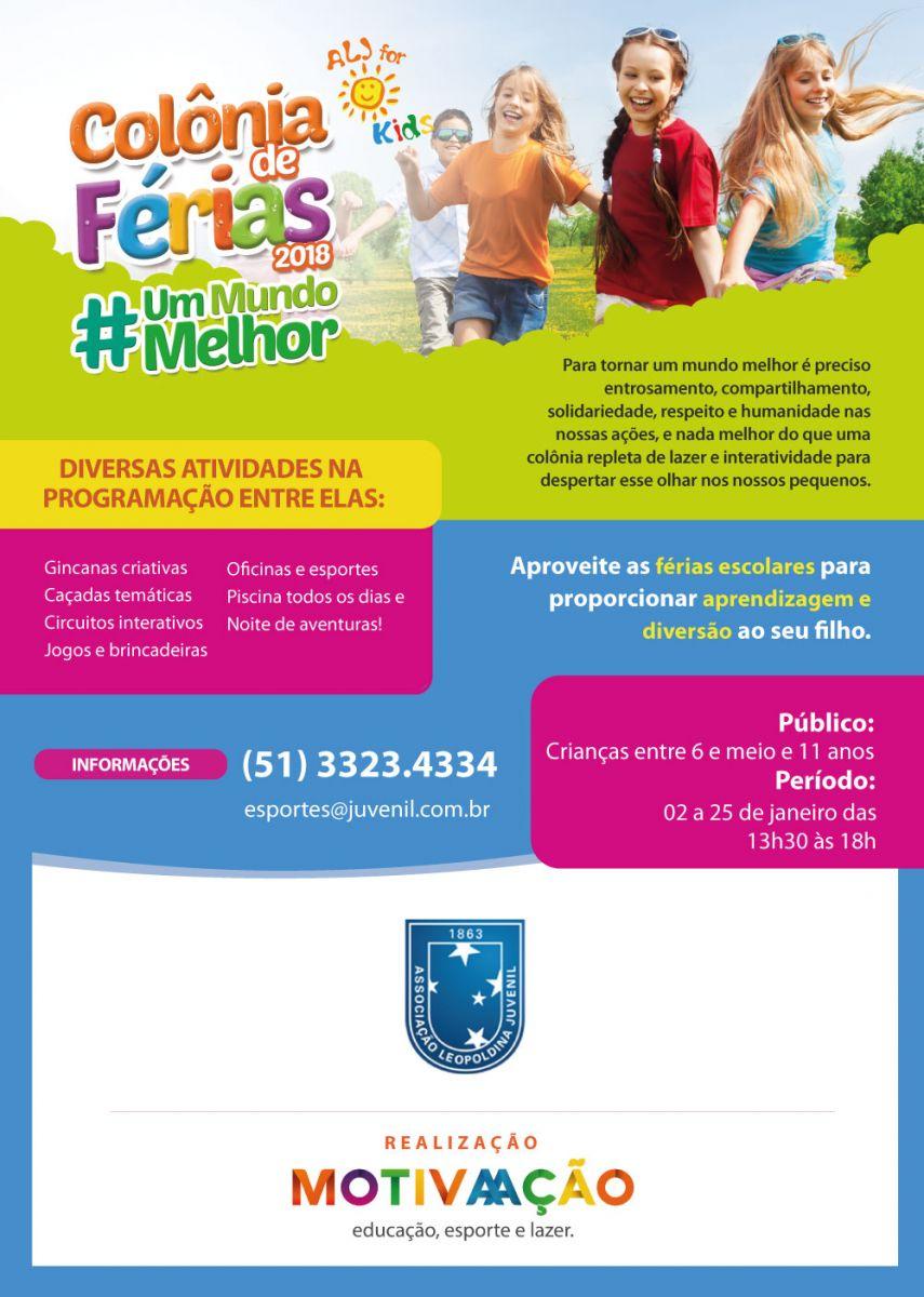 Colônia de Férias ALJ For Kids tem vagas abertas