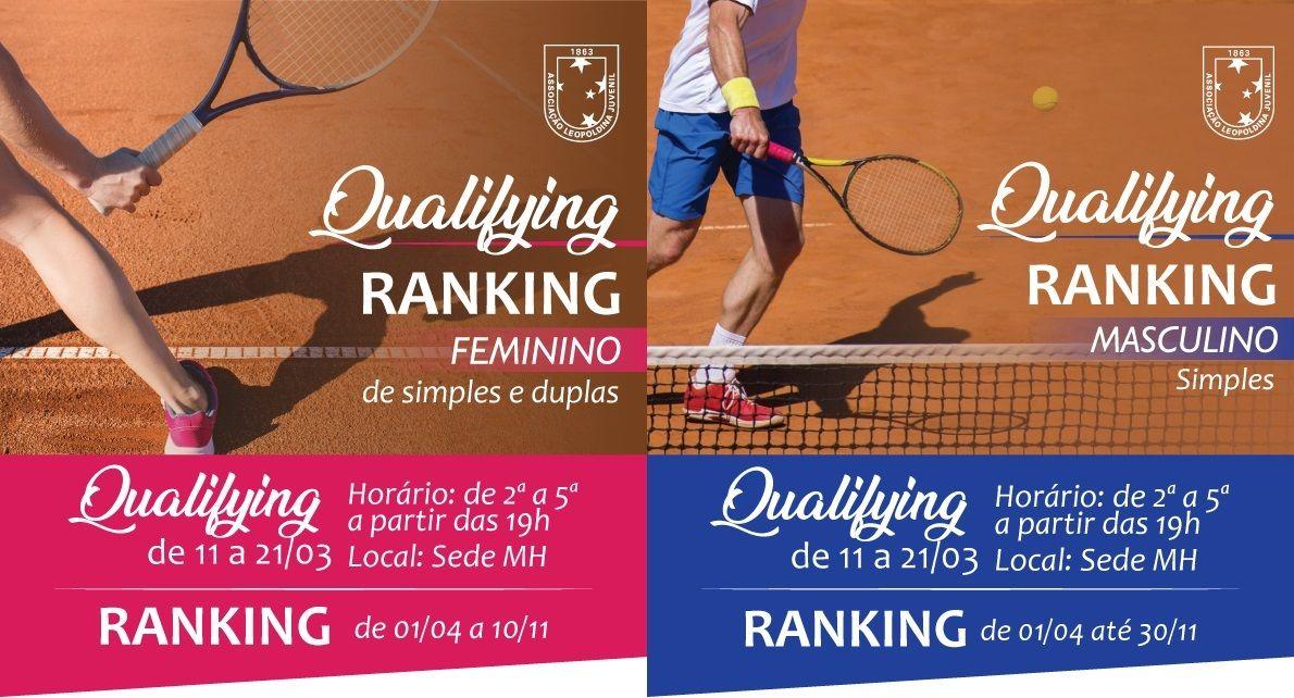 Qualifying Ranking Masculino e Feminino 2018
