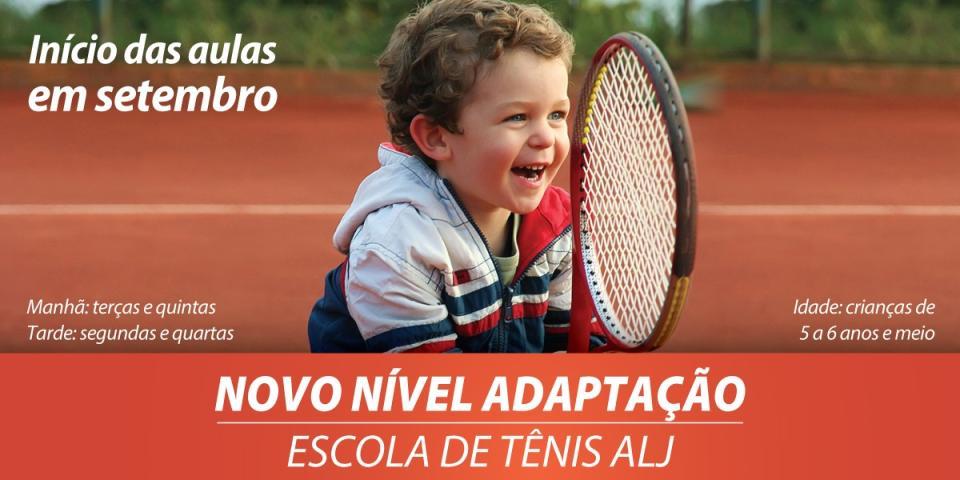 Nível Adaptação: novidade na Escola de Tênis ALJ