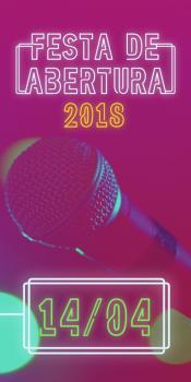 Festa de Abertura da Agenda Social - 14 de abril