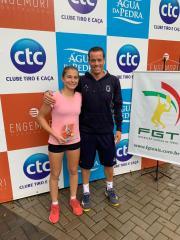 Campeões ALJ no 1º Aberto Clube Tiro e Caça de Tênis Infantojuvenil