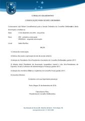 REUNIÃO ORDINÁRIA DO CONSELHO DELIBERATIVO