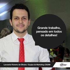 Leonardo de Oliveira sobre a isDesign: Grande trabalho, pensado em todos os detalhes!