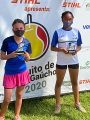 No CTG em São Leopoldo, três vice-campeonatos para tenistas associados do Juvenil