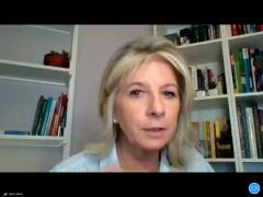 Nutricionista Vera Lisboa orienta as meninas em encontrinho online