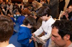 Troca de faixas na Escola de Judô ALJ