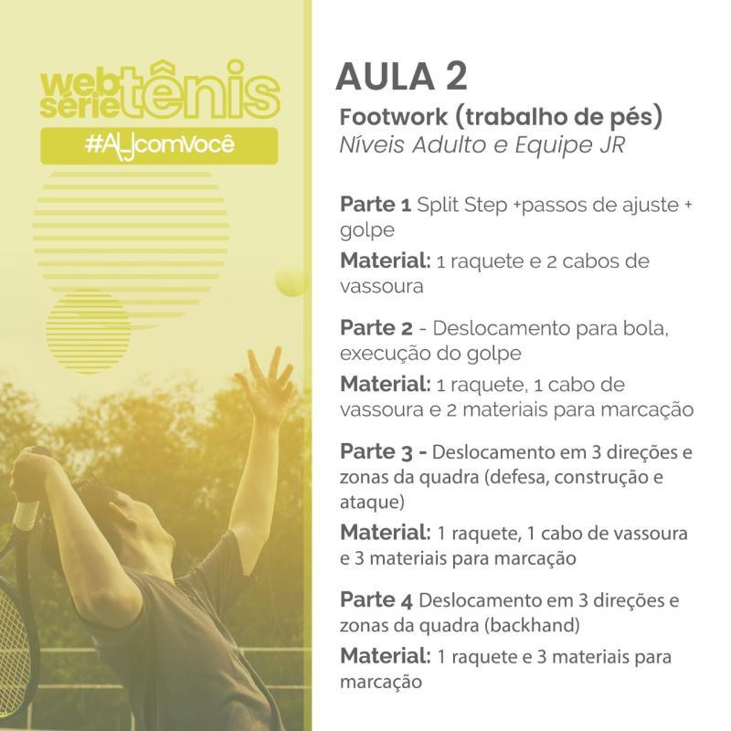 Websérie Tênis - Aula # 2 - Níveis Adulto e Equipe Jr.