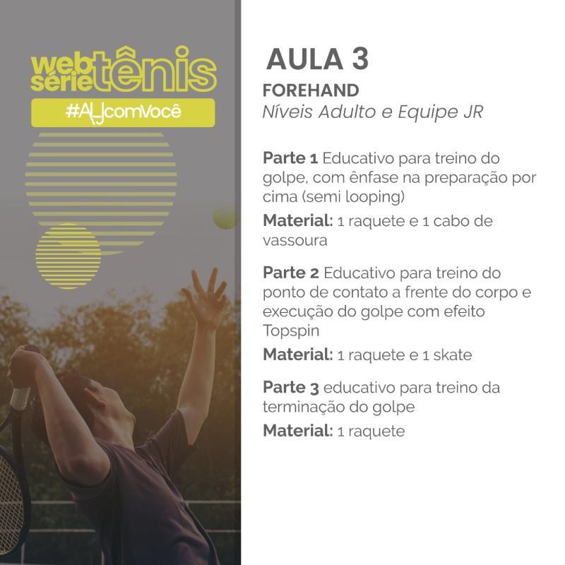 Websérie Tênis - Aula # 3 - Níveis Adulto e Equipe Jr.
