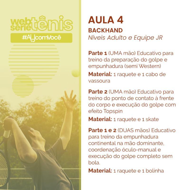 Websérie Tênis - Aula # 4 - Níveis Adulto e Equipe Jr.