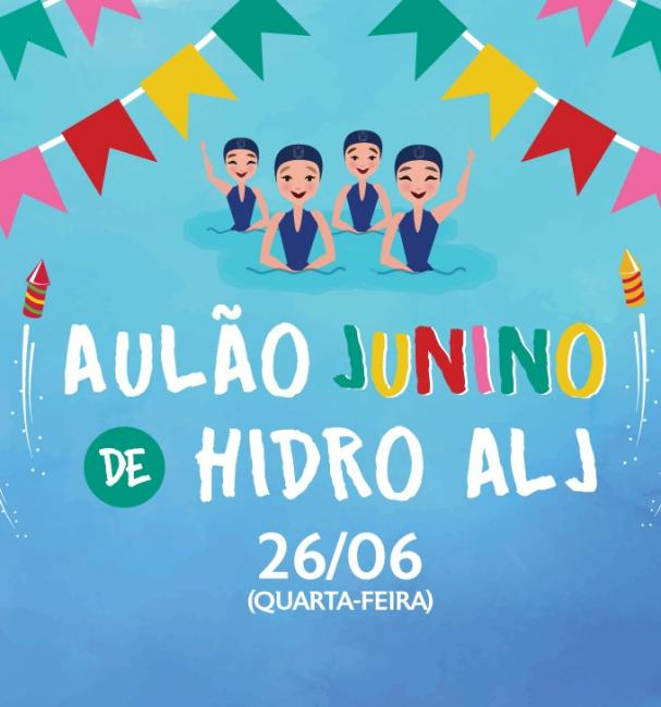 Aulão Junino na hidroginástica da ALJ