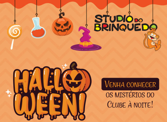 Halloween Studio do Brinquedo e Happy para pais