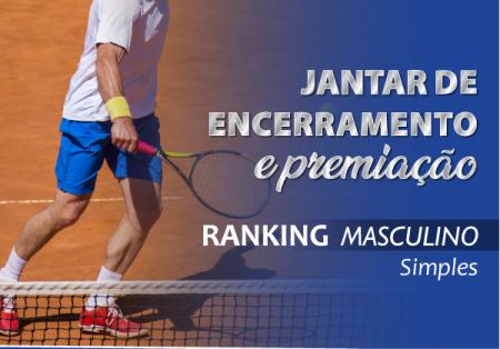 Jantar de Encerramento e Premiação Ranking Masculino de Simples ALJ