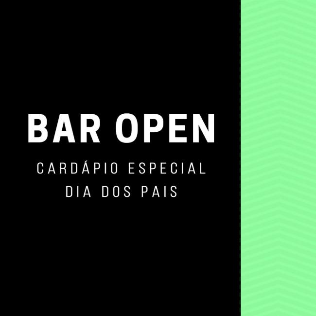 Cardápio do Bar Open